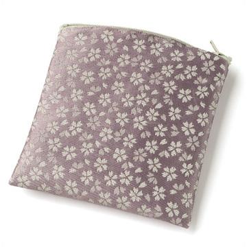 数珠袋(念珠入れ) ポーチ型 日和 紫色