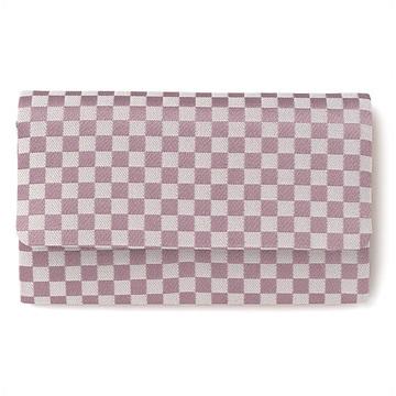 数珠袋(念珠入れ) 市松模様 紫色