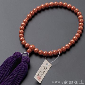 数珠 女性用 古渡珊瑚 6.8mm玉