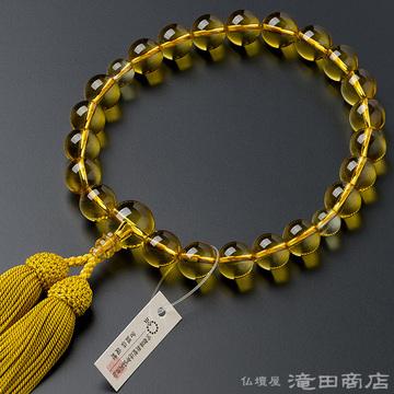 数珠 男性用 黄水晶 22玉