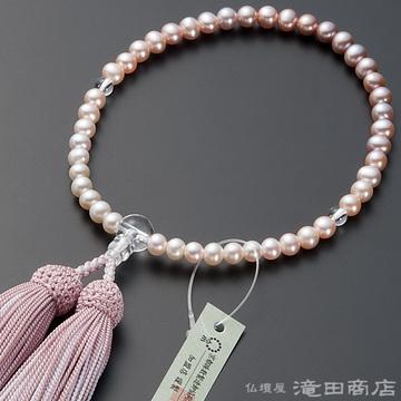 数珠 女性用 淡水パール グラデーション 6mm玉