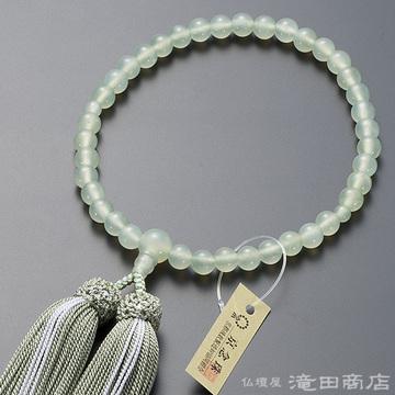 数珠 女性用 グリーンオニキス 7mm玉
