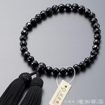 数珠 女性用 黒オニキス ジュエリー切子カット