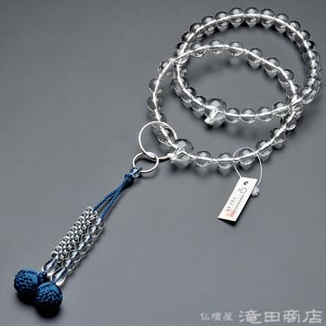 浄土宗 本式数珠 男性用 本水晶 三万浄土9寸