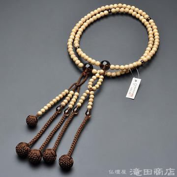 日蓮宗 本式数珠 男性用 星月菩提樹 茶水晶仕立 尺2