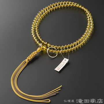 曹洞宗 本式数珠 男性用 黄水晶 尺2