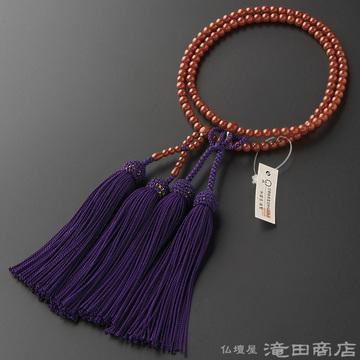 浄土真宗 本式数珠 女性用 古渡珊瑚 8寸