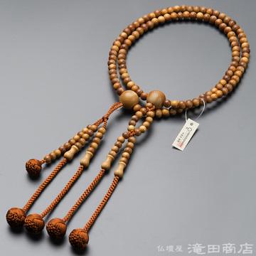 日蓮宗 本式数珠 男性用 インド白檀 尺2