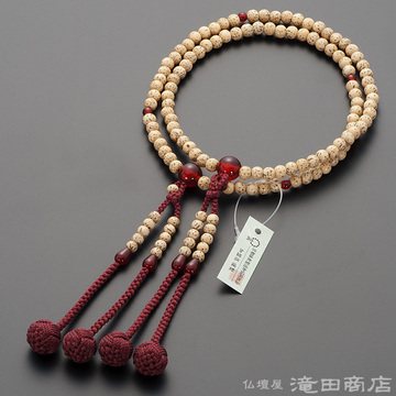 真言宗 本式数珠 女性用 星月菩提樹 瑪瑙(メノウ)仕立 8寸