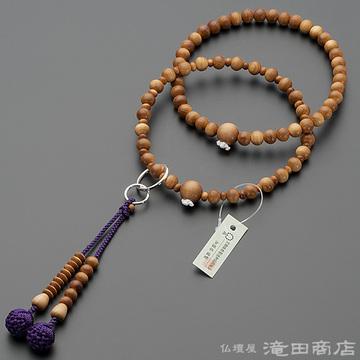 浄土宗 本式数珠 女性用 インド白檀 六万浄土8寸