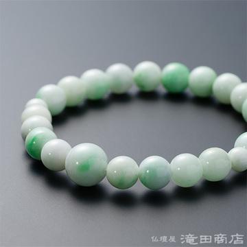 特選腕輪念珠 鑑別書付き 極上 糸魚川翡翠 8.5ミリ玉
