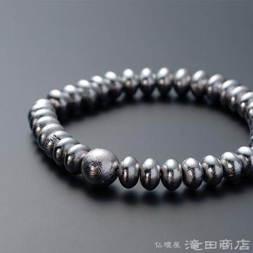 特選腕輪念珠 鑑別書付き ギベオン隕石 みかん玉 8×5ミリ玉