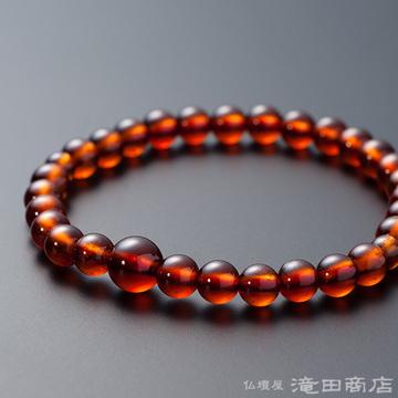 特選腕輪念珠 鑑別書付き 極上 オレンジガーネット 6ミリ玉
