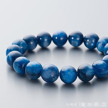 特選腕輪念珠 鑑別書付き 極上 カイヤナイト 12ミリ玉 ストレート