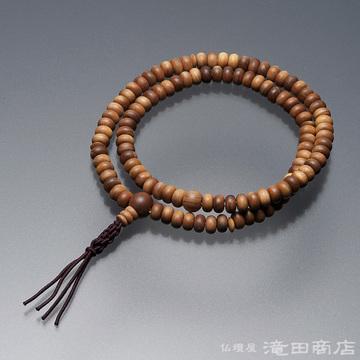 特選腕輪念珠 108珠 臨済宗用 白檀(サンダルウッド)
