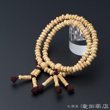 特選腕輪念珠 108珠 日蓮宗用 星月菩提樹