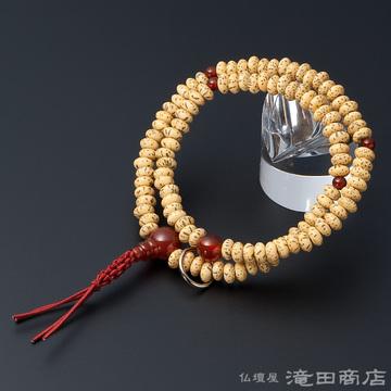 特選腕輪念珠 108珠 曹洞宗用 星月菩提樹 瑪瑙(メノウ)仕立