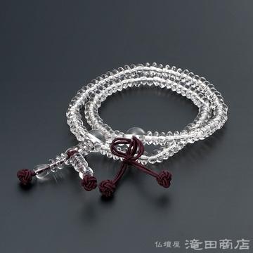 特選腕輪念珠 108珠 浄土真宗用 本水晶