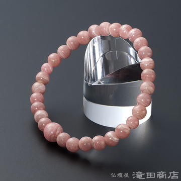 特選腕輪念珠 インカローズ(ロードクロサイト) 6mm玉(縞模様)