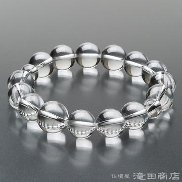 特選腕輪念珠 本水晶 14mm玉