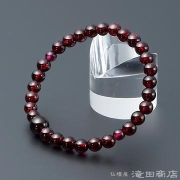 特選腕輪念珠 ガーネット 6mm玉