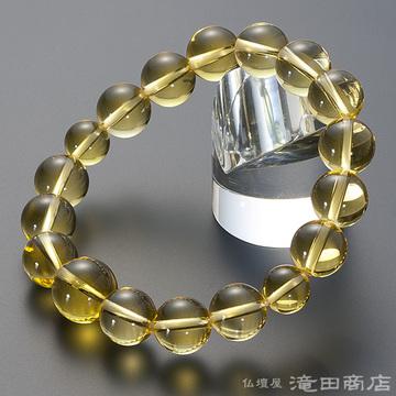 特選腕輪念珠 黄水晶(シトリン) 12mm玉