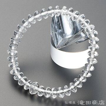 特選腕輪念珠 本水晶 スターシェイプカット 7×5mm玉