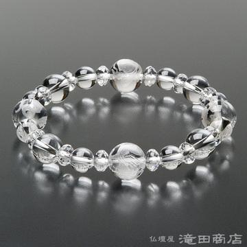 特選腕輪念珠 四神ブレス 本水晶 10mm玉&8mm玉