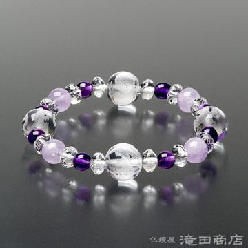 特選腕輪念珠 四神ブレス 紫雲石・紫水晶