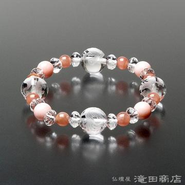 特選腕輪念珠 四神ブレス ピンクオパール・インカローズ(ロードクロサイト)