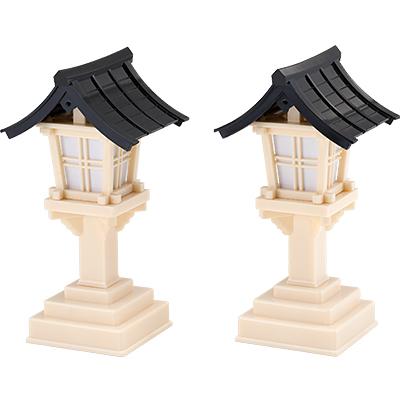 春日灯篭(黒屋根) (一対) kami0222