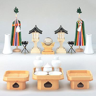 祖霊舎用神具セット(中) kami0424-02