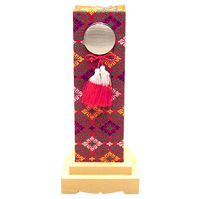 霊璽(御霊代) 鏡錦付覆い 6寸 kami0426-02