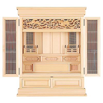 祖霊舎(神徒壇) 浄明(じょうみょう) 上置型30号(木印) kami0470