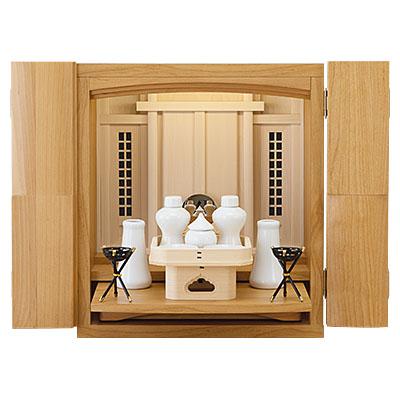 モダンミニ祖霊舎(神徒壇) レガリア 14号 神具セット付き kami0484-2