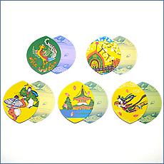 散華(散花) 五種柄色刷(100枚セット)