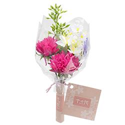 【仏壇用のミニ仏花・造花】千の花 小 (パープル) S-13