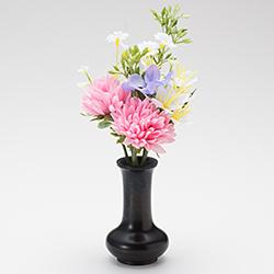 【仏壇用のミニ仏花・造花】千の花 小 (ピンク) S-11 花立2.5寸付