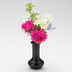 【仏壇用のミニ仏花・造花】千の花 小 (レッドパープル) S-13 花立2.5寸付