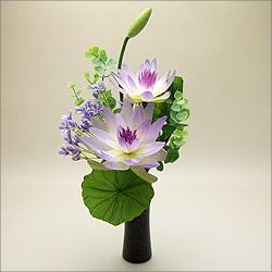 【仏壇用の仏花・造花】モダン仏花 B 花器付