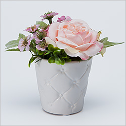 【仏壇用のミニ仏花・造花】モダン仏花 LEDルミネフラワー ピンク(コードレス)
