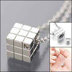 遺骨ペンダント(Soul Jewelry)【キューブ】シルバー925・ダイヤモンド