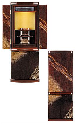 新型仏壇 京錦(きょうにしき)みかげ塗りDX 1300