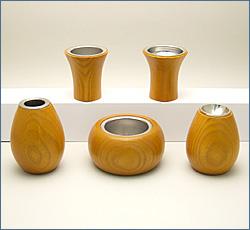 モダン仏具(現代仏具) ピコ 5点セット(ライト色) 2.5寸