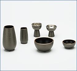 モダン仏具(現代仏具) 萌 6点セット 銀ねず 3寸