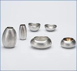 モダン仏具(現代仏具) ISI(いし) 錫製 6点セット 3寸