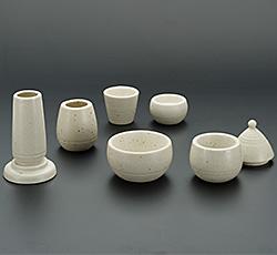 モダン仏具(現代仏具) 白みかげ 6点セット 3寸