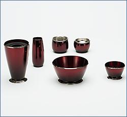 モダン仏具(現代仏具) ブリアン 6点セット ワイン 3寸