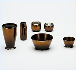 モダン仏具(現代仏具) ブリアン 6点セット セピア 3寸
