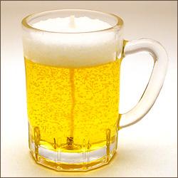 生ビールミニジョッキのローソク
